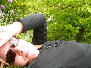 chillin in the grass