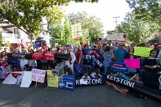 Big Crowd to say no to the Keystone XL pipeline