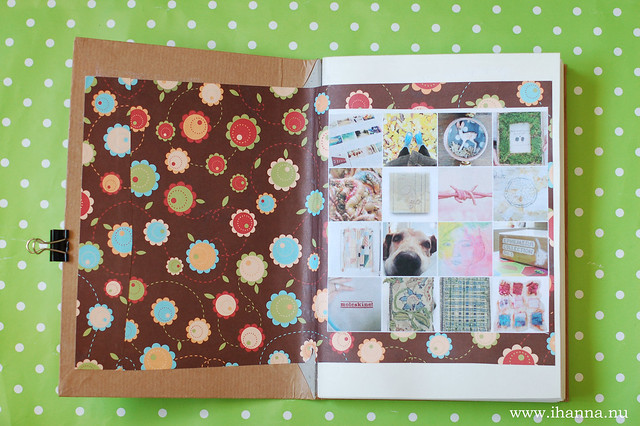 Glue Book: Start page and Mosaic from Flickr