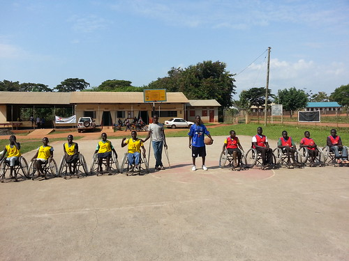 The GDPU Wheelchair Basketball squads gather for a rousing game