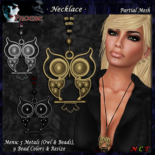 *P* The Owl Necklace ~5 Metals~