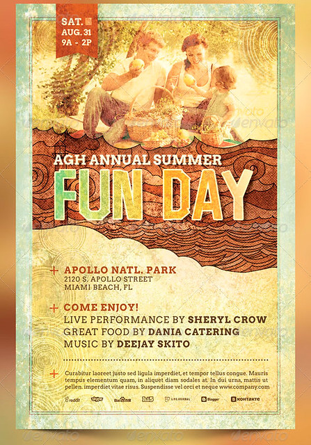 fun day event flyer template the fun day event flyer templ flickr photo sharing. Black Bedroom Furniture Sets. Home Design Ideas