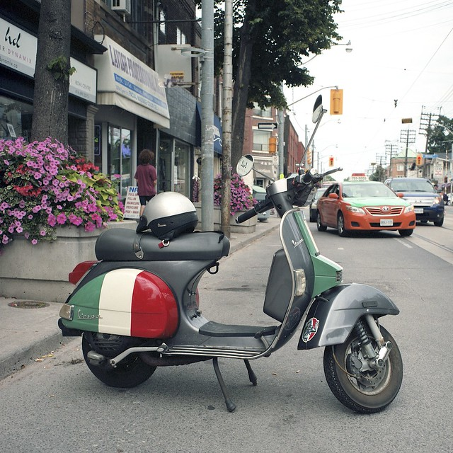 Tri Colour Vespa