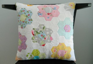 epp hexies pillow {x-factor pillow swap 6}