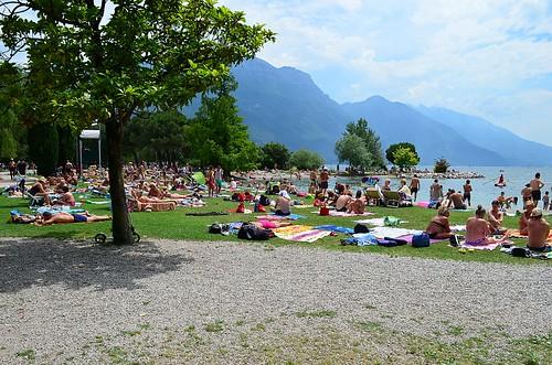 Sunbathers at Riva del Garda