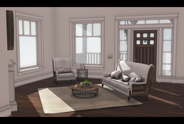 C88  JULY - [ba] lakeside cottage by Barnesworth Anubis - 4 with CheekyPea -  Deconstrcuted Living Room
