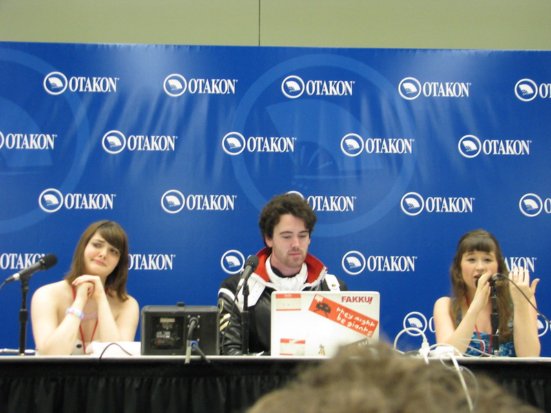 """Do Re Anime"" panelists, The Fab Tri-Stars: Nicole, Dylan, and Amanda"