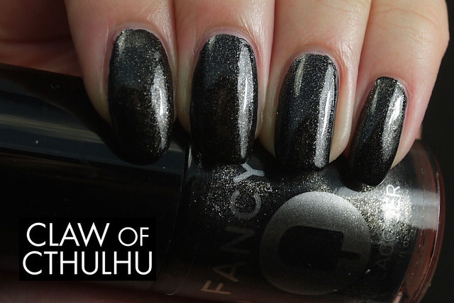 Fancy Nail Lacquer by Rainbow Honey Fancy Black Swatch