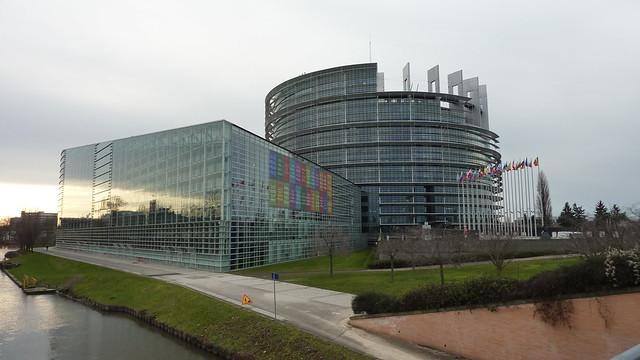 Siège du Parlement européen à Strasbourg en décembre