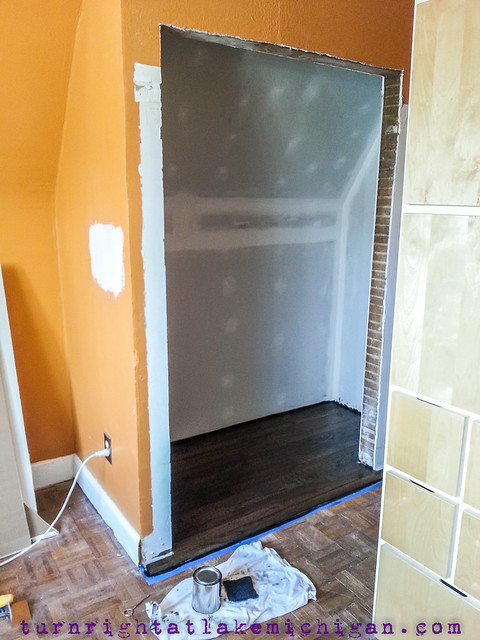 Progression of The Upstairs Bedroom Closet