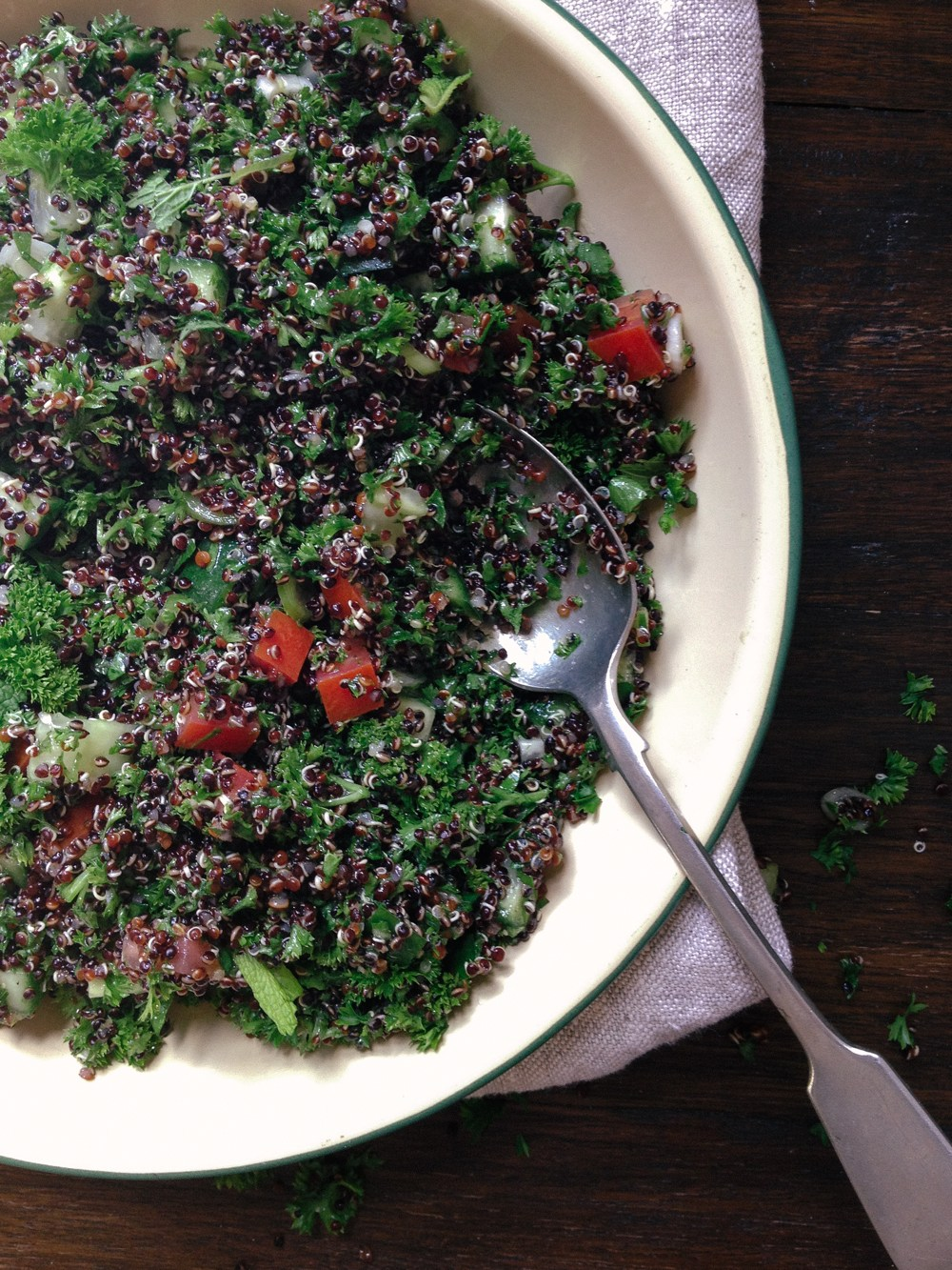 Parsley and Quinoa Tabbouleh with Pita and Spiced Yoghurt | Simple Provisions