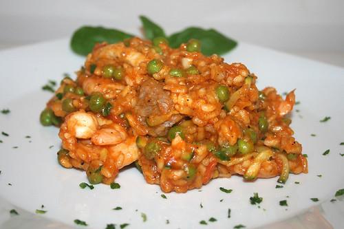 48 - Portugiesiche Reispfanne - Seitenansicht / Portuguese rice fry - side view