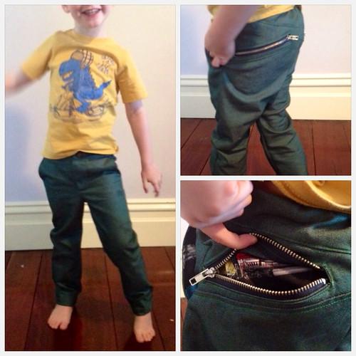 Green W Pants