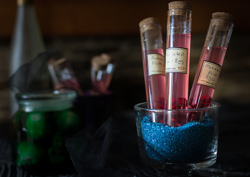 "Raspberry-Apple Moonshine ""Fish Egg"" Shooters"