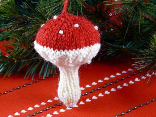 Knitted Mushroom