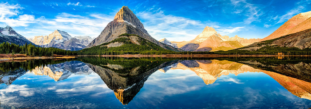 Swiftcurrent Lake and Grinnell Point