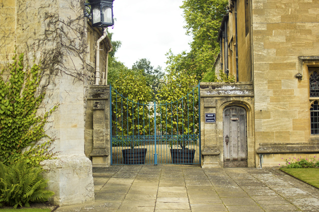 Oxford University picturesque college