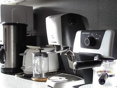 espresso(0.0), coffee(0.0), drink(0.0), coffeemaker(1.0), espresso machine(1.0), small appliance(1.0),