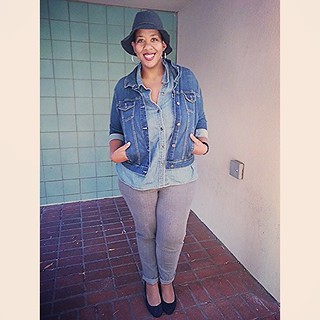 110913 big, fat thank you to @Francesca_Hurst for this hat & being my photog today! #ootd #plussize #fatshion #whatiwore