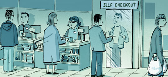 funny-cashiers-cartoon-store-mirror-self-checkout