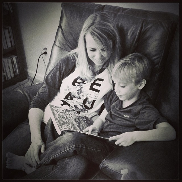 """Lookin' book time with Eli... #1000gifts, #sevenly"