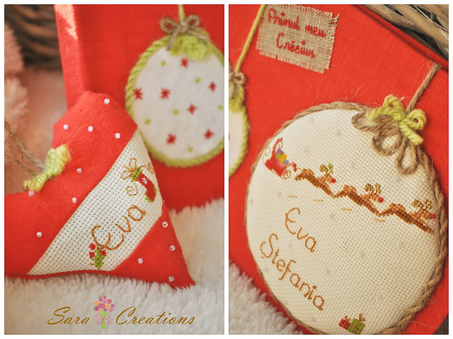 Christmas notebook and hearts