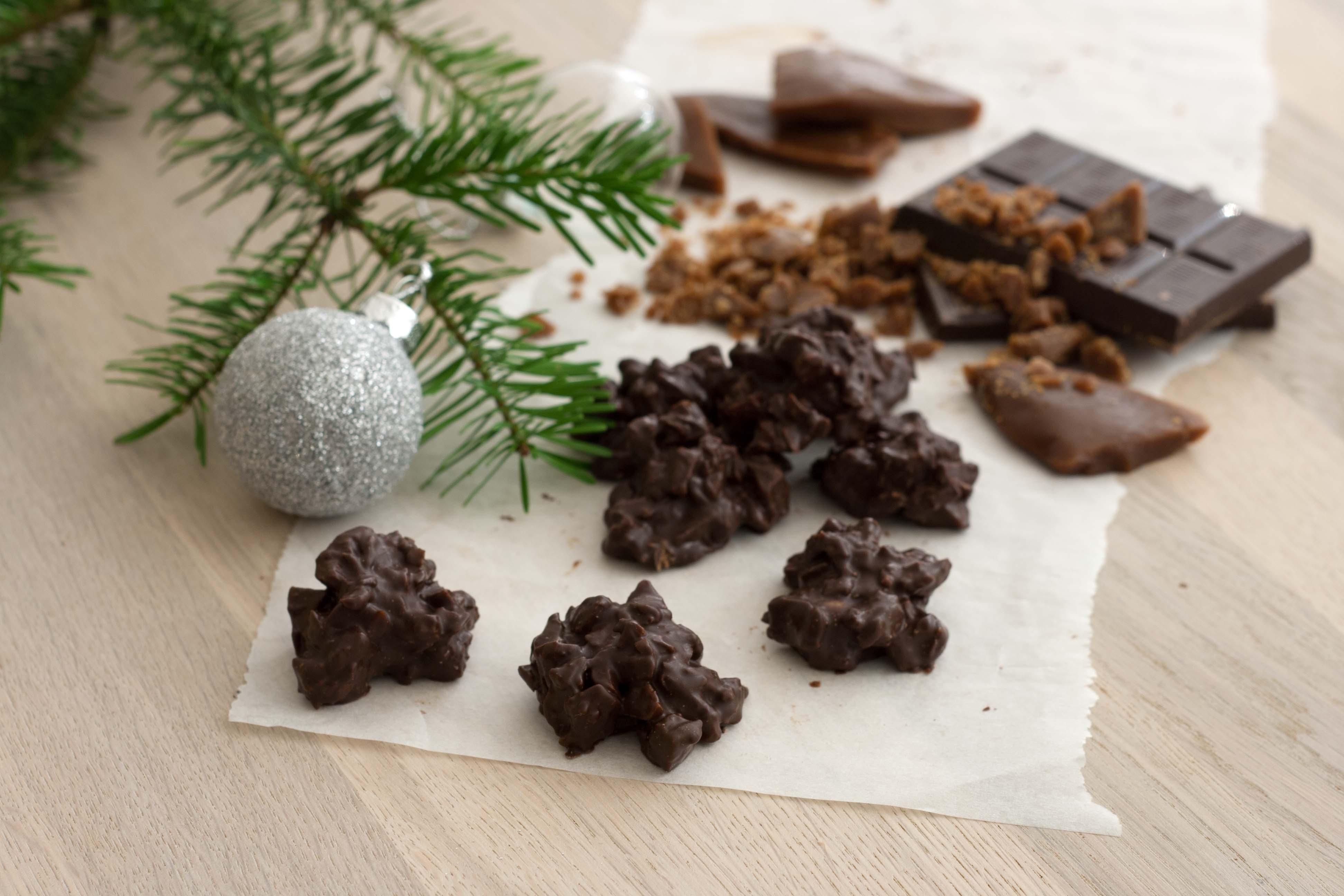 opskrift på Karamelknas med chokolade