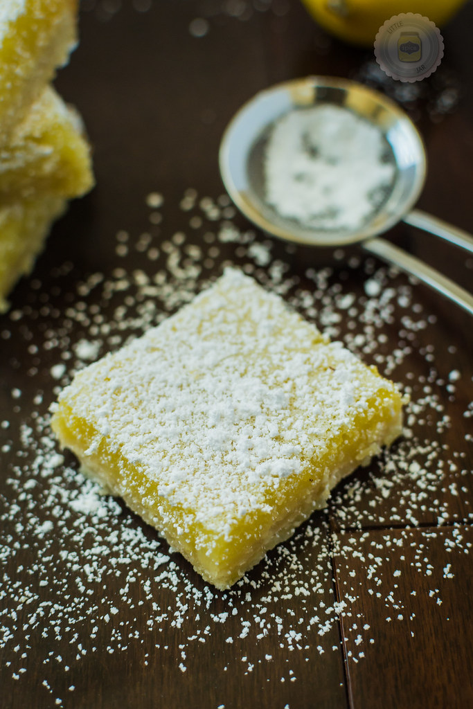 Sunshine Lemon Bars Final Shot Square With Powdered Sugar 2