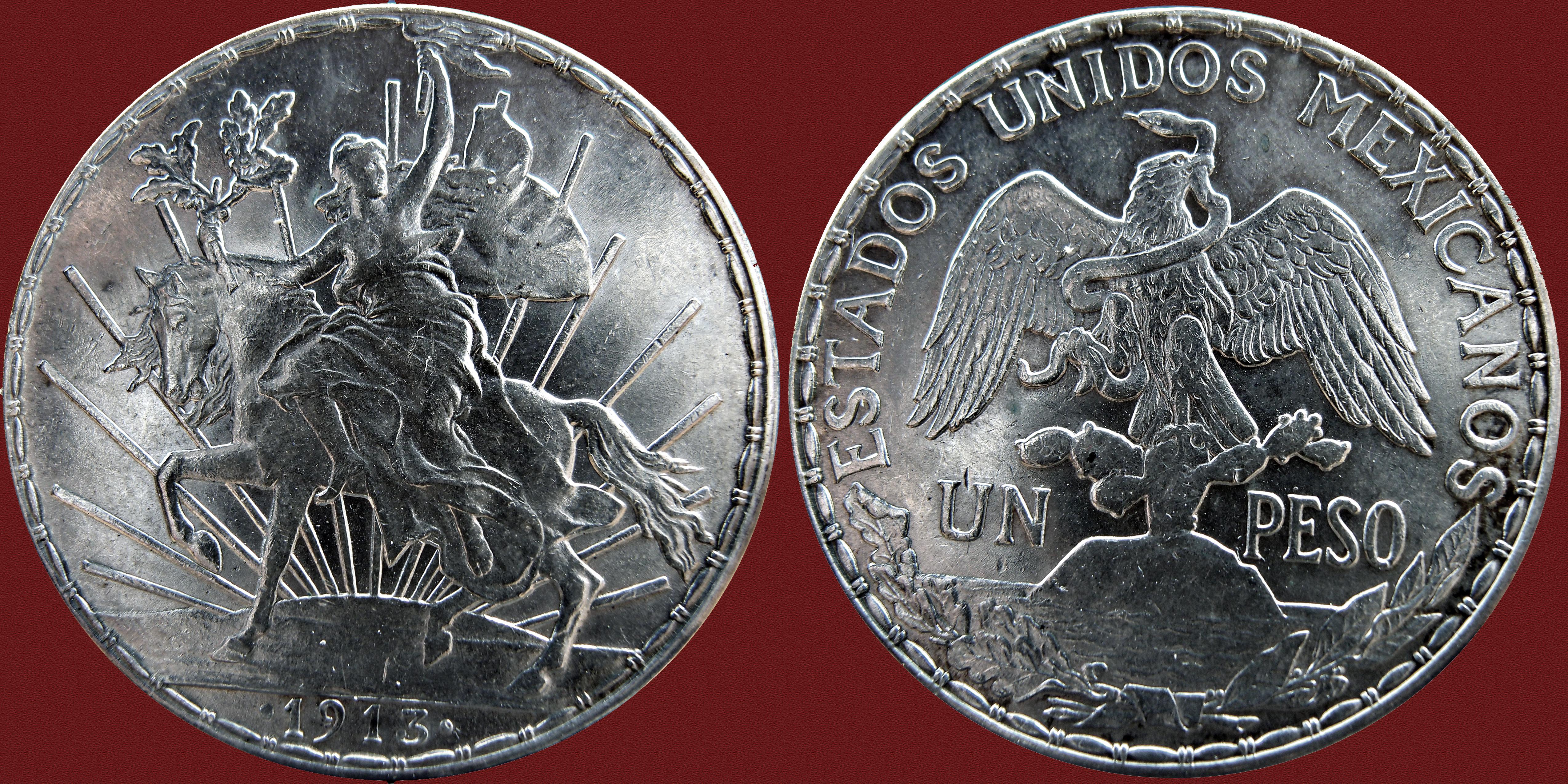 Mexico 1913 - 1$ 1 Peso ( Caballito ) 11585228265_6e1dfbd9b2_o