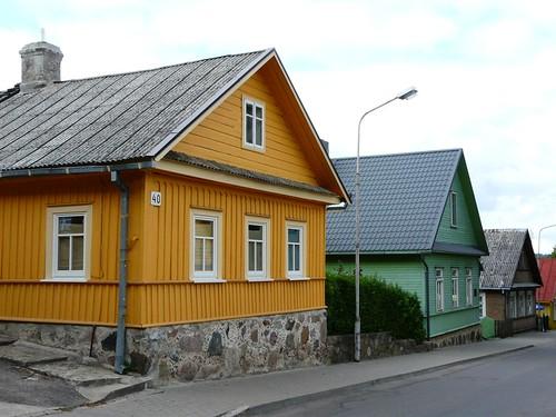 Casas caraítas en Trakai (Lituania)