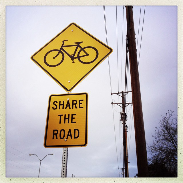Share The Road Sign - Richardson, Texas