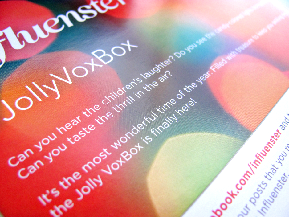 Influenster, Jolly VoxBox, Welcome