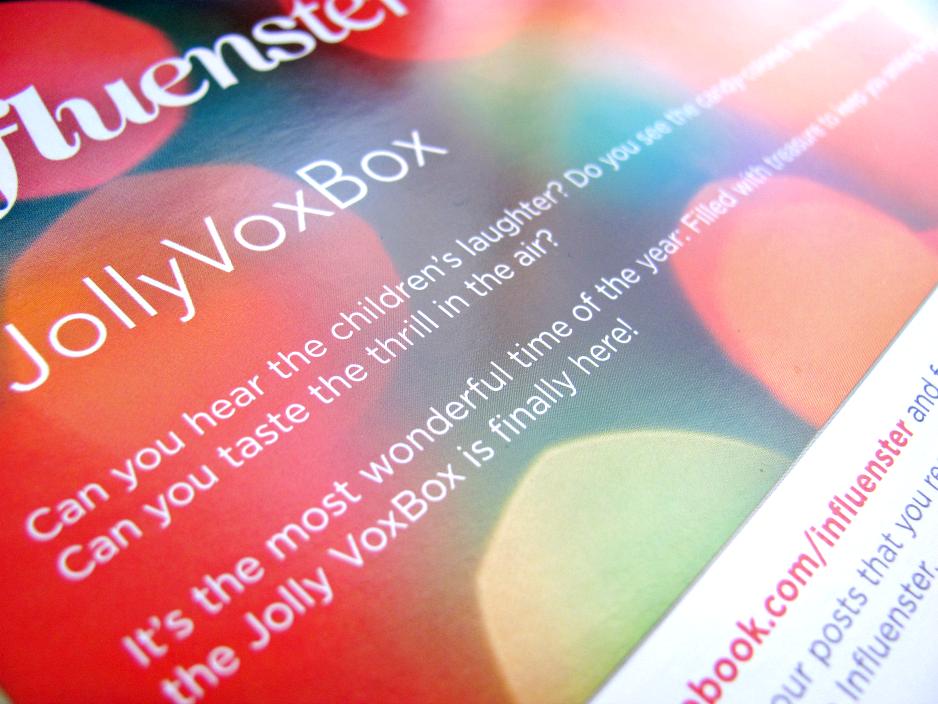 Influenster, Jolly VoxBox, Welcome