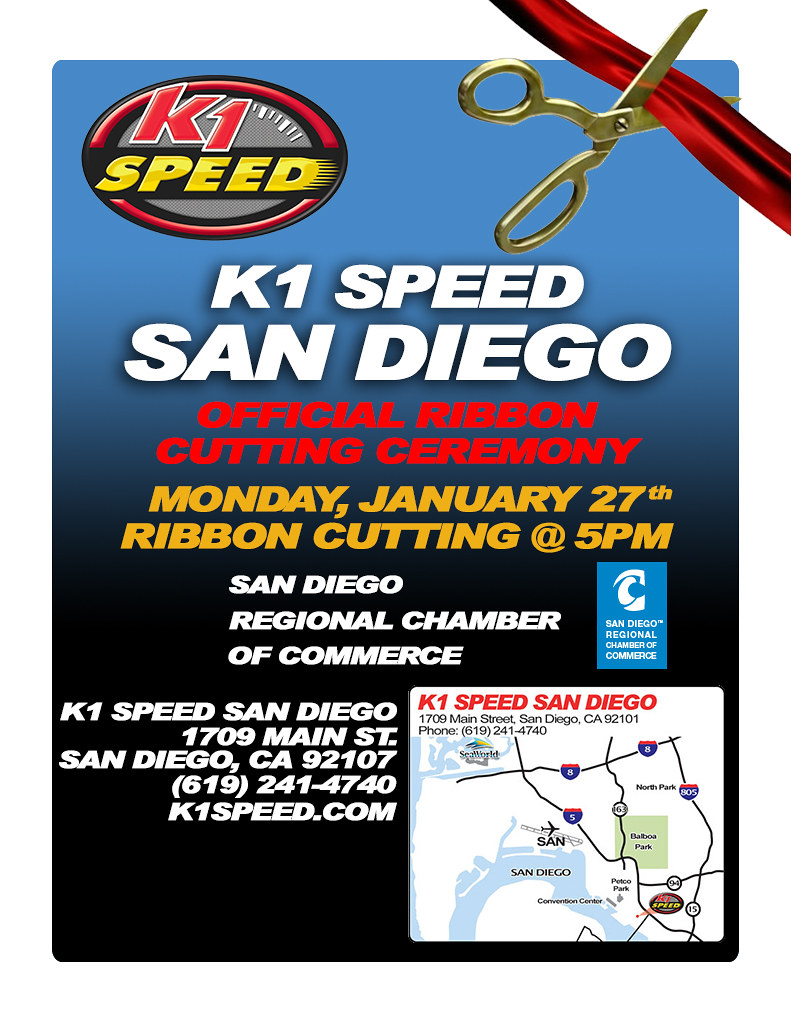 12109799313 ca549b85f6 b Ribbon Cutting & Special Event // K1 Speed San Diego