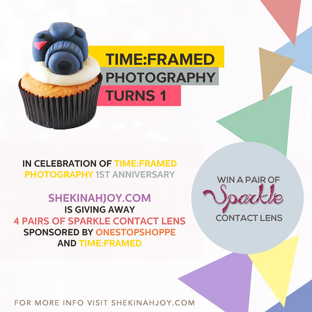 Sparkle Contact Lens Giveaway sponsored by Time:Framed and OneStopShoppe