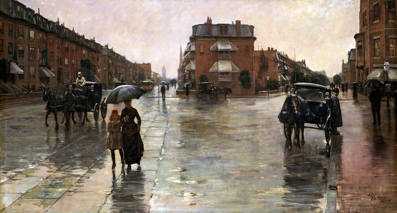 Childe Hassam - Rainy Day, Boston (1885)