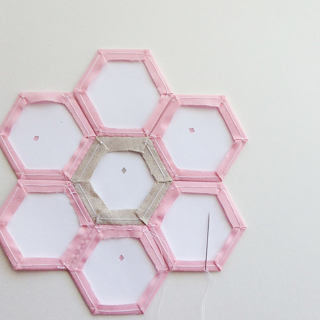 Stitching Hexagons