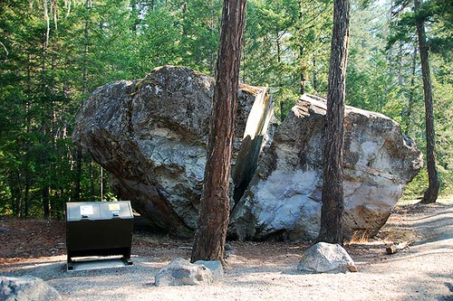 Big Rock, or Split Rock, Tweedsmuir South Provincial Park, Chilcotin, British Columbia, Canada