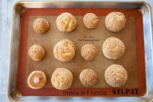 Pan full of choux