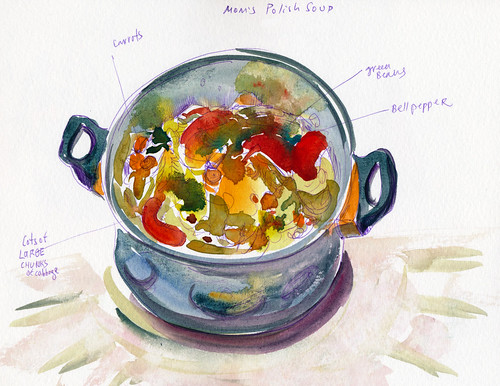 February 2014: Mom's Polish Soup - another treasure :) by apple-pine