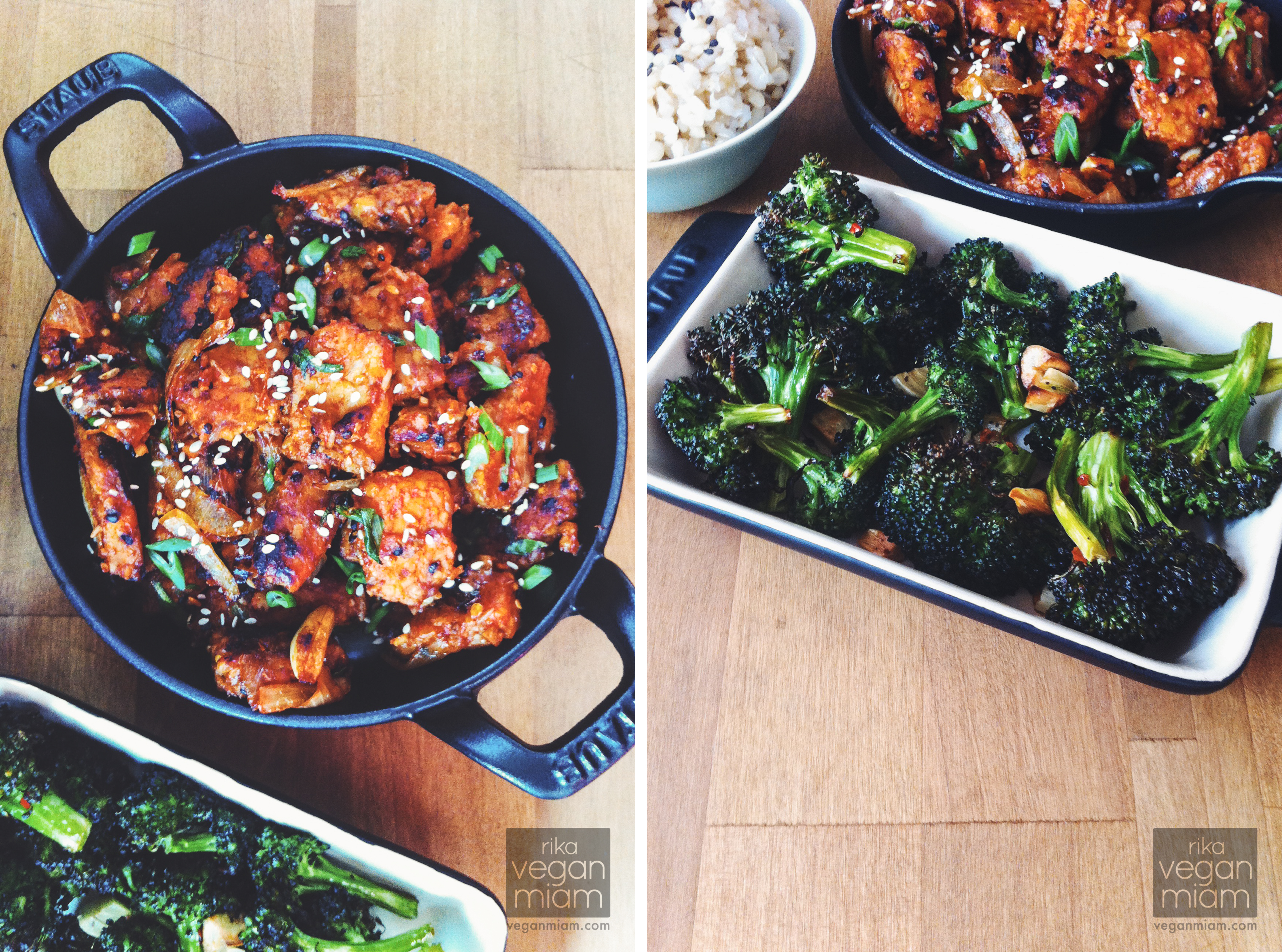 Gochujang Tempeh + Blasted Broccoli