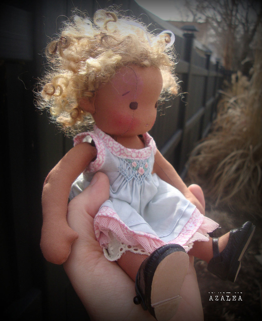 "Azalea- 8.5"" Petite Fleur style doll by Mon Petit Frère"
