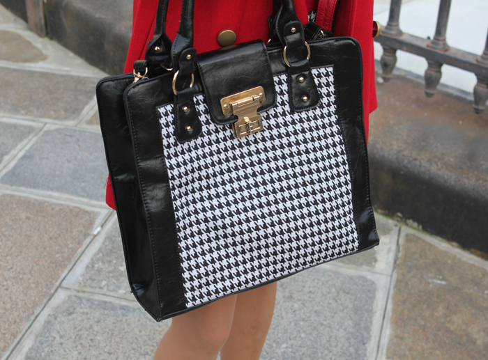 houndstooth bag, pata de gallo, bolso