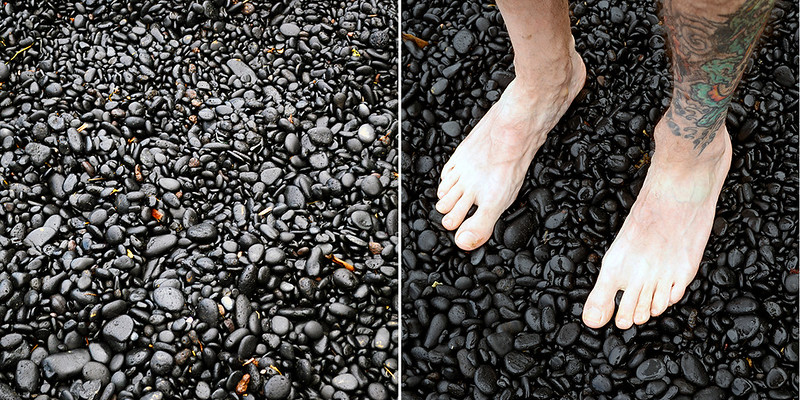 Smooth Stones at Black Sand Beach