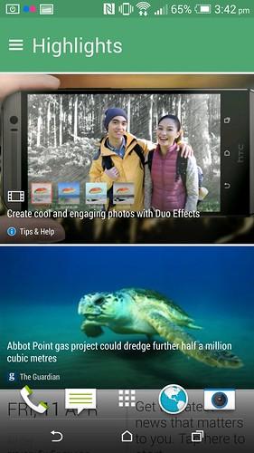 BlinkFeed บน HTC One M8