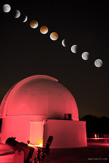 Lunar eclipse at George Observatory