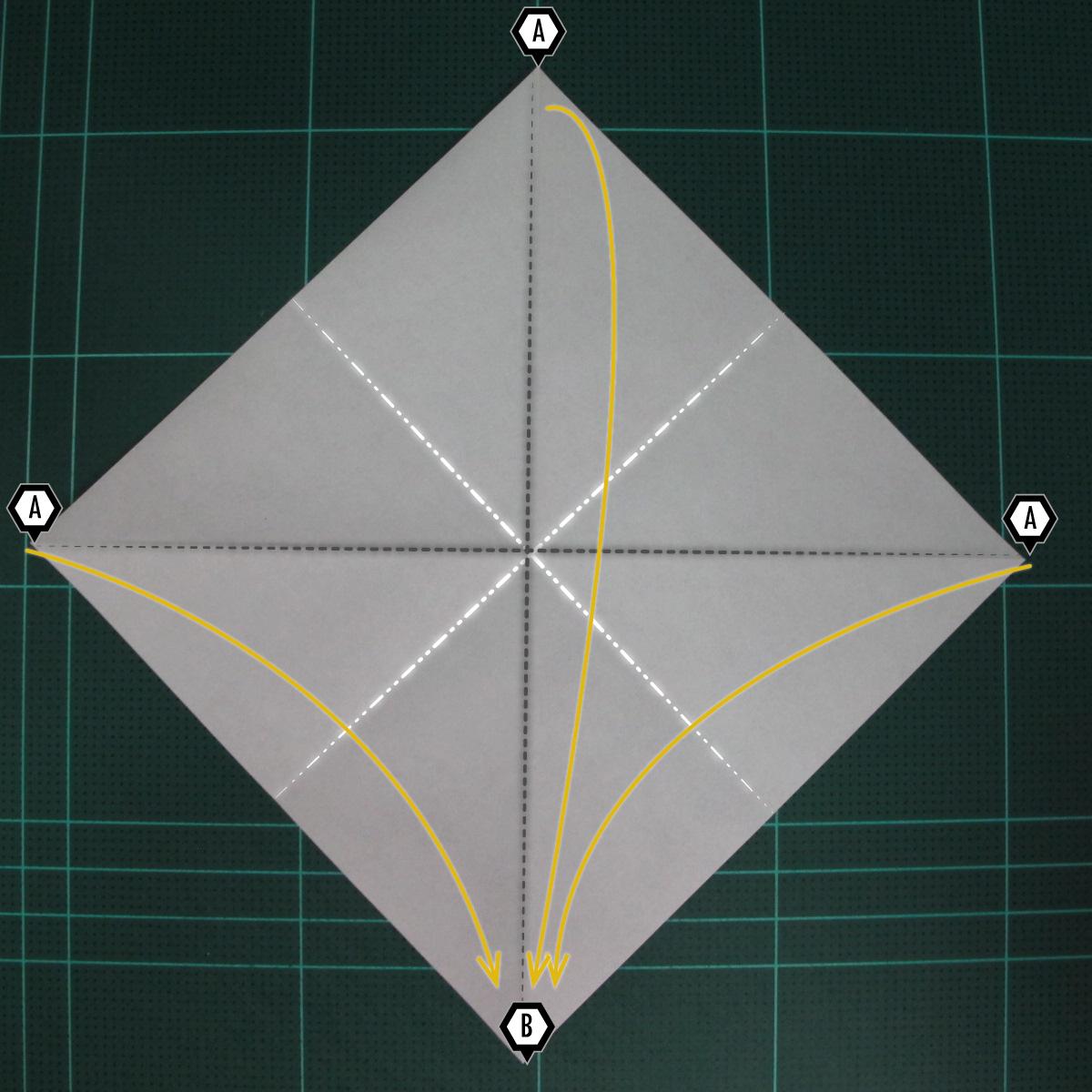 การพับฐานสี่เหลี่ยม (Origami Preliminary Base) 002