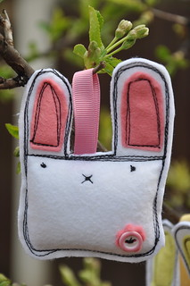 Pink flower Bunny