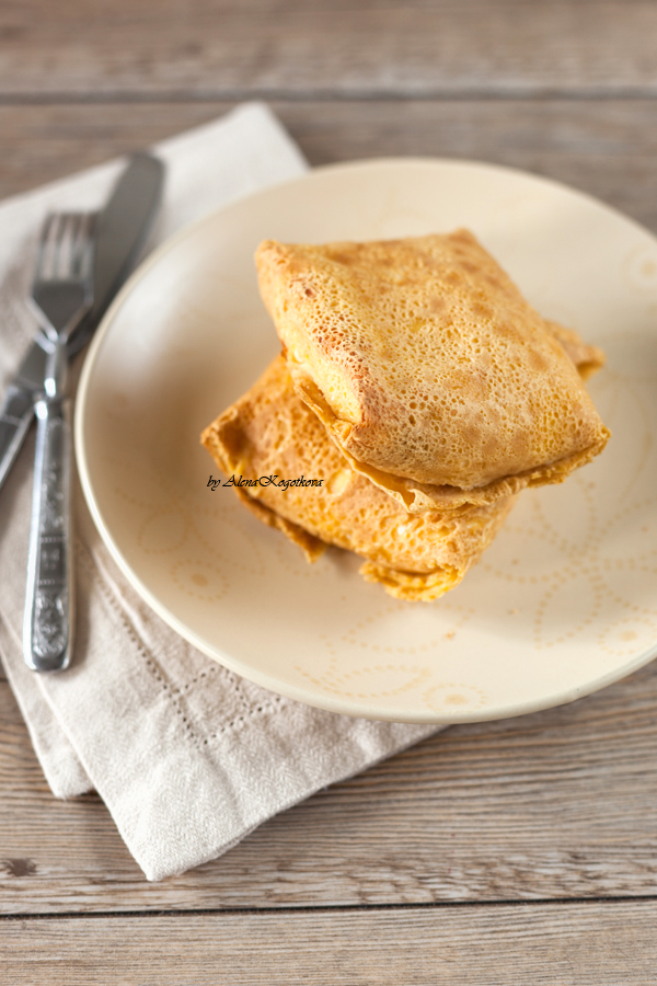 Chickpea Pancakes with Cheese Stuffing