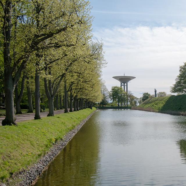 Landskrona citadel, the moat